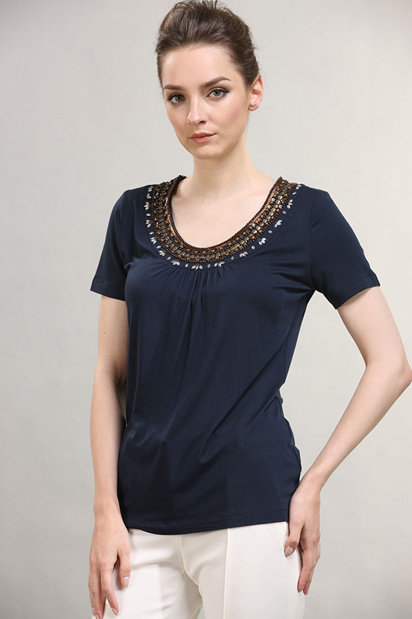 wholesale-scoop-neck-national-style-gold-paillette-around-neck-short-sleeve-shirt
