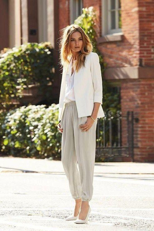 neutral silhouettes office style creates a monochrome look that is perfect for spring